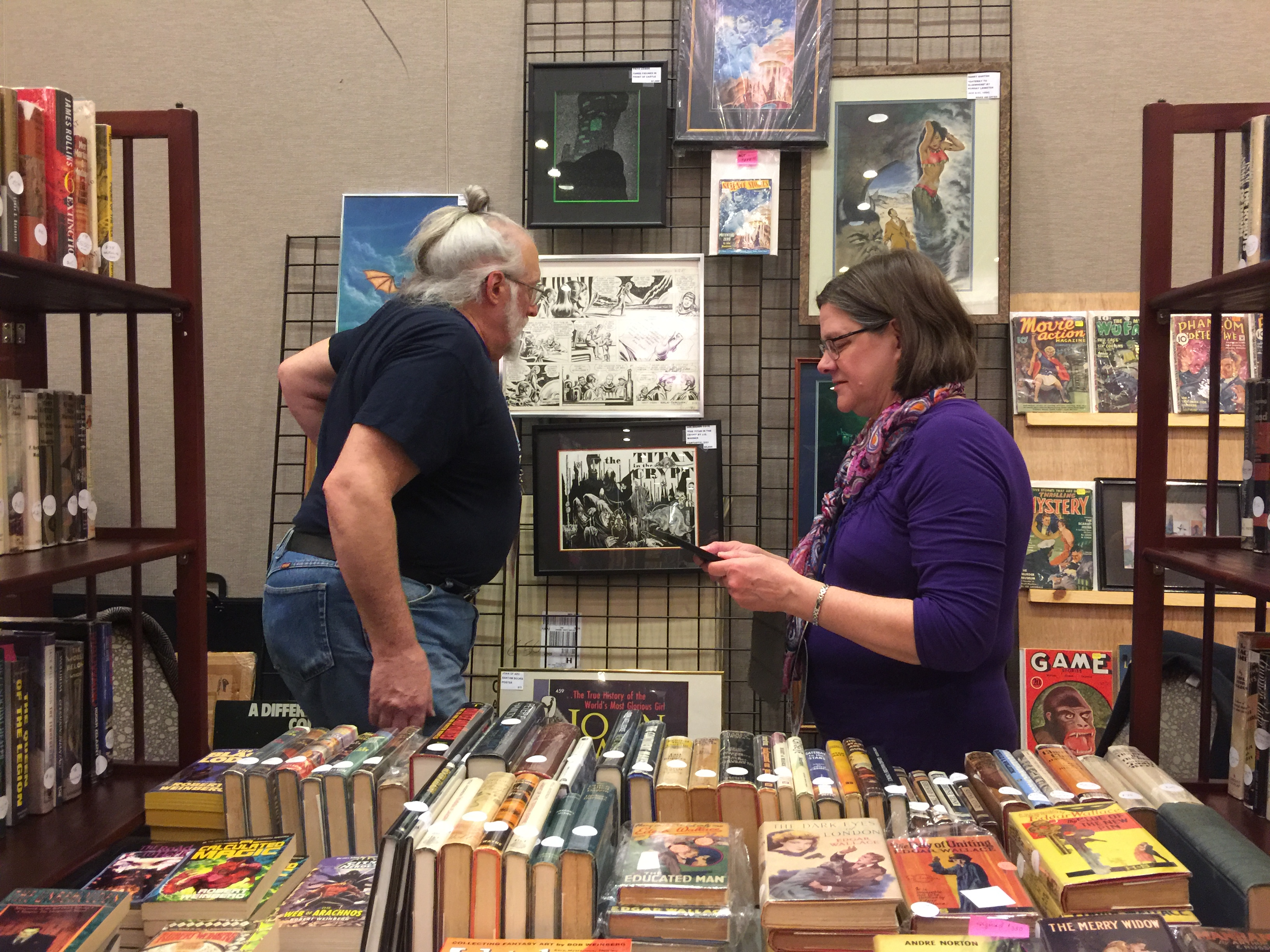 Weinberg Books had original art and books